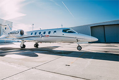 i contacted aerocare medical transport systems inc and they arranged everything from hospital to rehab facility